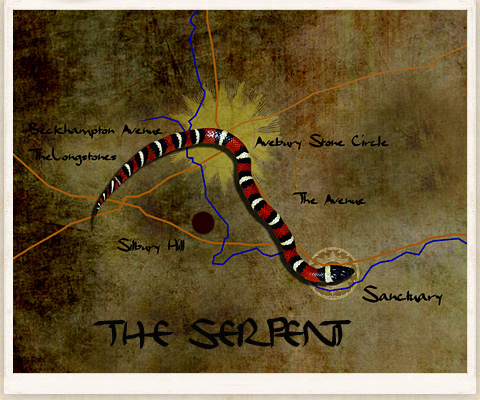 The 'Sun Serpent' Design of the Avebury Neolithic Complex